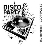 disco party   black and white...   Shutterstock .eps vector #1009492162