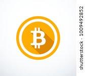 vector bitcoin icon | Shutterstock .eps vector #1009492852