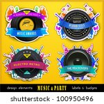 colorful retro music labels and ... | Shutterstock .eps vector #100950496