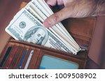 us dollar money banknote in...   Shutterstock . vector #1009508902