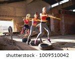 group of flexible girls are... | Shutterstock . vector #1009510042
