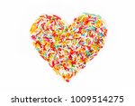 colorful sugar sprinkle dots ...   Shutterstock . vector #1009514275
