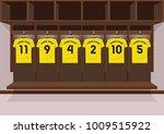 soccer dressing rooms team.... | Shutterstock .eps vector #1009515922