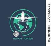 medical tourism icon design ... | Shutterstock .eps vector #1009520236