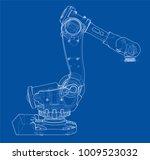 industrial robot manipulator.... | Shutterstock .eps vector #1009523032