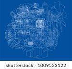car engine. vector eps10 format ... | Shutterstock .eps vector #1009523122
