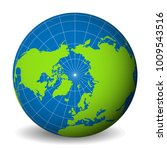 earth globe with green world... | Shutterstock .eps vector #1009543516