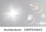 white light effects cosmic set. ... | Shutterstock .eps vector #1009543642