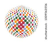 abstract globe dotted sphere ... | Shutterstock .eps vector #1009563556