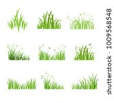 grass icon. silhouette of green ... | Shutterstock .eps vector #1009568548