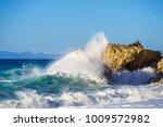 kathisma beach in lefkas   Shutterstock . vector #1009572982