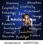 business man writing innovation ... | Shutterstock . vector #100957342