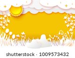 flowering meadow. grass and... | Shutterstock .eps vector #1009573432