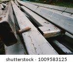 steel rods i shape  metal | Shutterstock . vector #1009583125