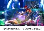 macro view of miner working for ... | Shutterstock . vector #1009585462