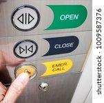 elevator buttons emergency call....   Shutterstock . vector #1009587376