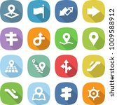 flat vector icon set   pointer... | Shutterstock .eps vector #1009588912