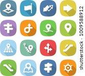 flat vector icon set   pointer... | Shutterstock .eps vector #1009588912