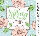 inscription spring time on... | Shutterstock .eps vector #1009590826