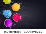 holi background flat lay.... | Shutterstock .eps vector #1009598212