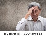 stressed hopeless senior old... | Shutterstock . vector #1009599565