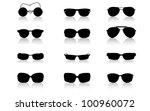 sunglass frame set isolated on...   Shutterstock .eps vector #100960072