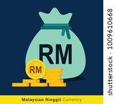 malaysian ringgit money bag...   Shutterstock .eps vector #1009610668