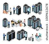 isometric data center... | Shutterstock .eps vector #1009612678