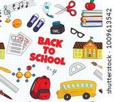 back to school seamless... | Shutterstock . vector #1009613542