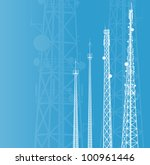 telecommunications tower  radio ... | Shutterstock .eps vector #100961446