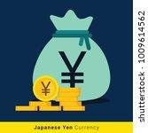 japanese yen money bag icon...   Shutterstock .eps vector #1009614562