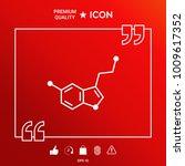 chemical formula icon. serotonin | Shutterstock .eps vector #1009617352