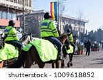 Local Police Equestrians In...
