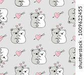 seamless pattern with cute... | Shutterstock .eps vector #1009622455