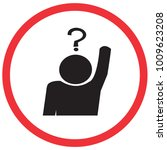 question and answer time sign ... | Shutterstock .eps vector #1009623208