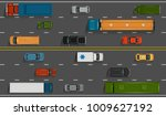 vector vehicles on the highway... | Shutterstock .eps vector #1009627192