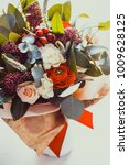 red winter bouquet    Shutterstock . vector #1009628125