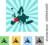map of france | Shutterstock .eps vector #1009631605