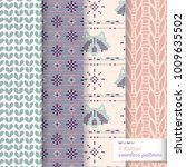 four vector seamless knitted... | Shutterstock .eps vector #1009635502