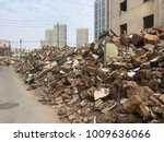 demolish building with debris... | Shutterstock . vector #1009636066