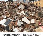 demolish building with debris... | Shutterstock . vector #1009636162