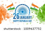 indian republic day on january... | Shutterstock .eps vector #1009637752
