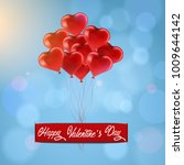 postcard happy valentine's day  ... | Shutterstock .eps vector #1009644142