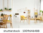 close up of wooden chairs at... | Shutterstock . vector #1009646488