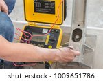 close up engineer hand use... | Shutterstock . vector #1009651786