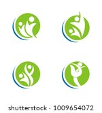 hand people abstract leaf logo | Shutterstock .eps vector #1009654072