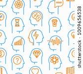mind process seamless pattern... | Shutterstock .eps vector #1009656538