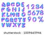 soft flexible neon 3d alphabet... | Shutterstock .eps vector #1009665946