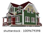 old house in victorian style.... | Shutterstock .eps vector #1009679398