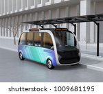 self driving shuttle bus... | Shutterstock . vector #1009681195
